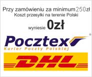 Przy zamówieniu za minimum 200 zł, koszt przesyłki wyniesie 0 zł.